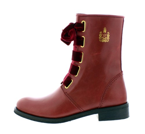b6c484a2649 Fly London Cristina Rodrigues Dwell 01 Wine Burgundy Leather Lace Up Flat  Ankle Boots - KissShoe
