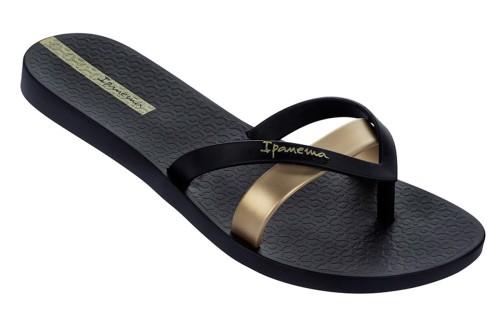 Ipanema Silk Premium Black Gold Women S Flip Flops Kissshoe