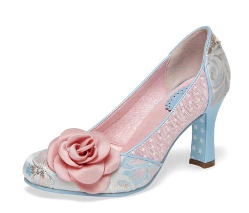 005c56369af Joe Browns Isabella Natural Pink Blue Floral High Heel Court Shoes -  KissShoe