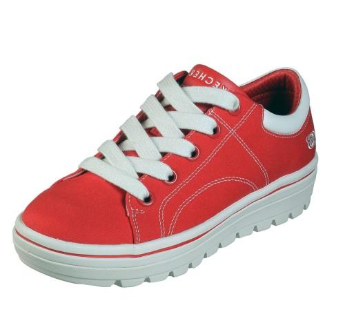 Skechers Street Cleat Bring It Back Red Canvas Memory Foam