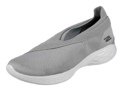 Skechers You Luxe Grey Slip On Women S Comfort Shoes