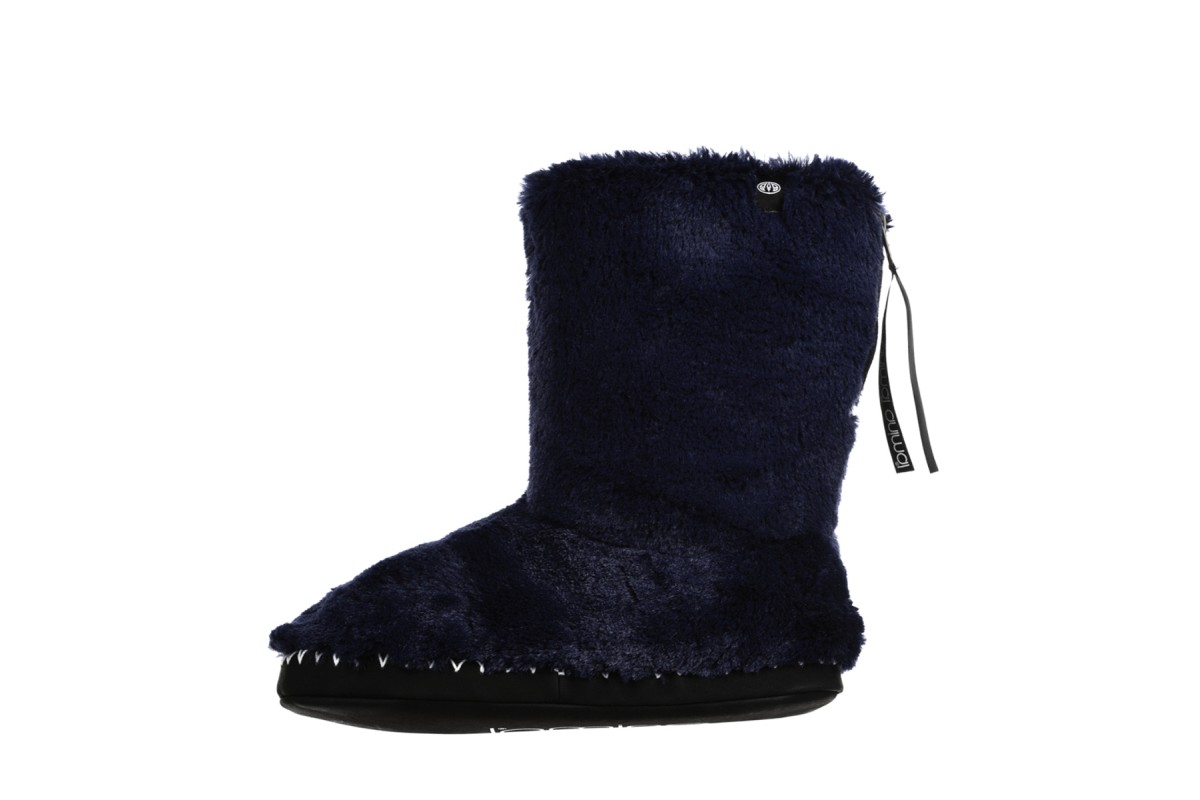 Animal Bollo Dark Navy Faux Fur Slipper Boots