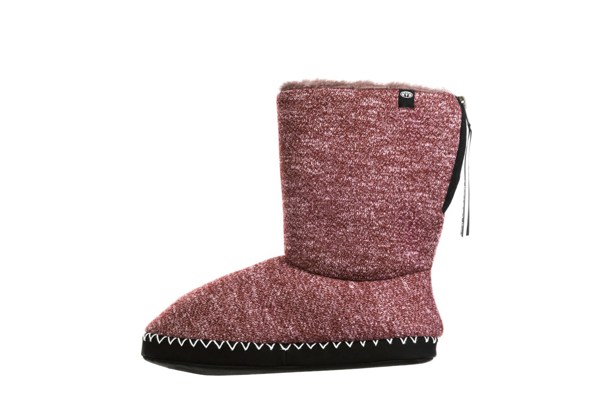 Animal Bollo Grape Burgundy Faux Fur Lined Slipper Boots