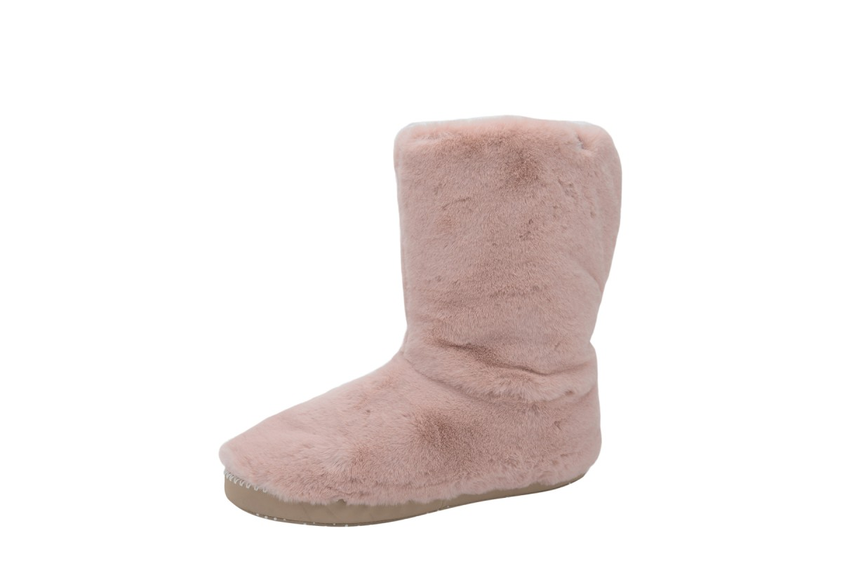 Animal Bollo Rose Dust Pink Faux Fur Slipper Boots