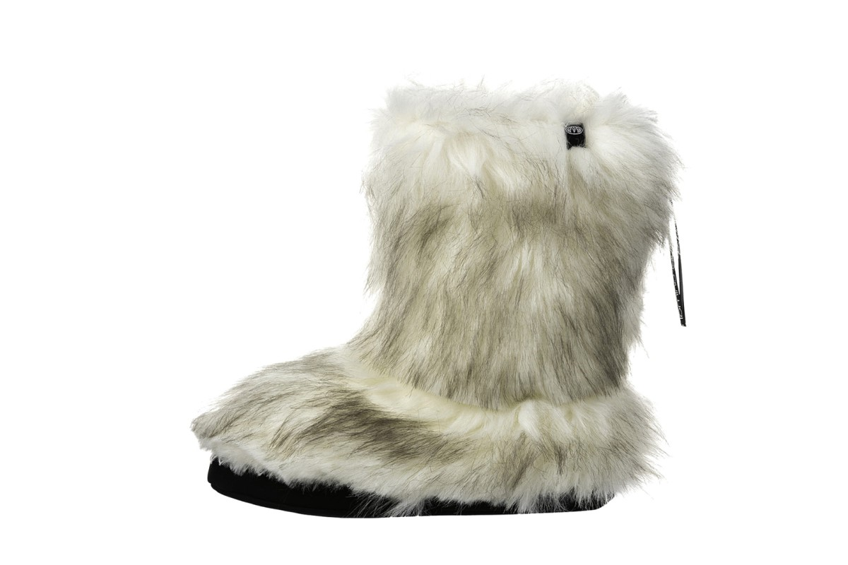 Animal Bollo Sand Cream Faux Fur Slipper Boots