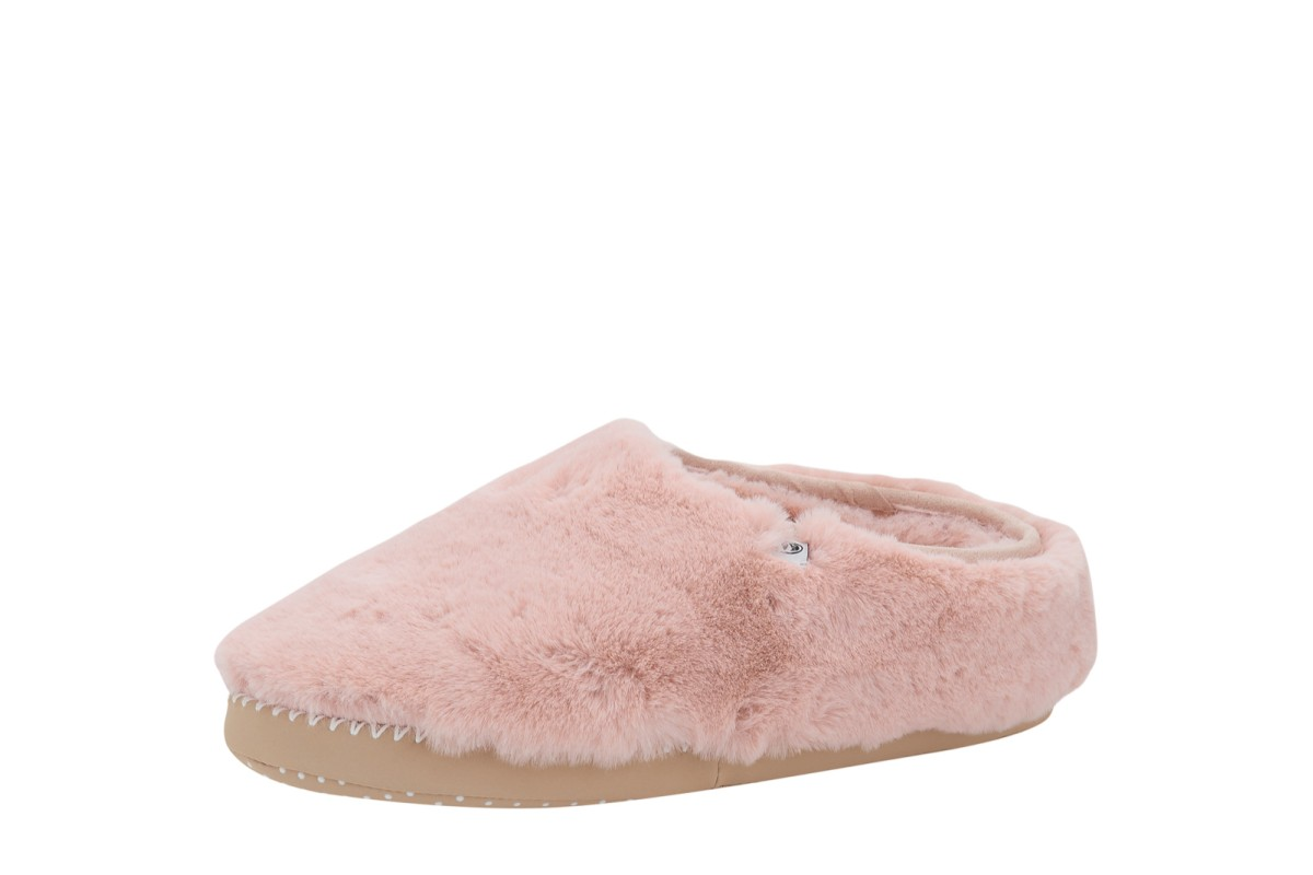 Animal Bollo Shortie Rose Dust Pink Faux Fur Slippers