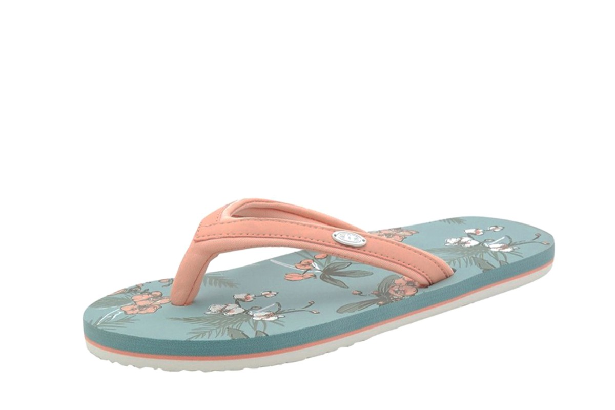 Animal Swish Slim AOP Blue Haze Peach Floral Flip Flops