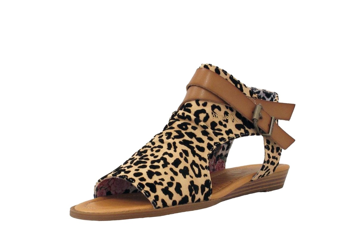 Sand Faux Suede Low Wedge Sandals