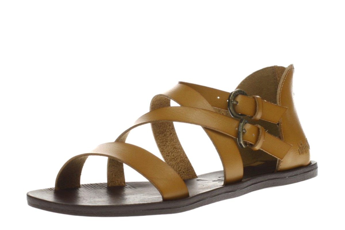 Blowfish Dipti Desert Sand Tan Flat Multi Strap Sandals