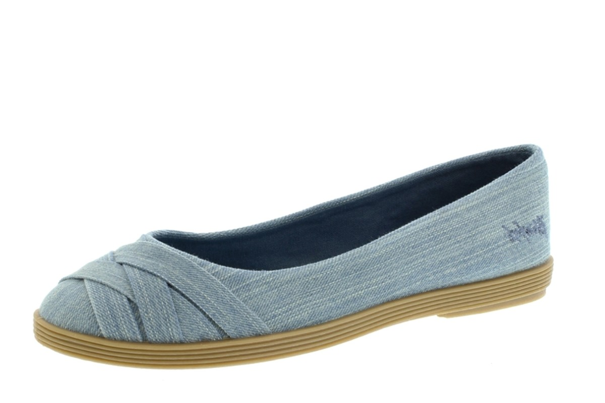 Blowfish Glo 2 Chambray Blue Street Denim Flat Ballet Shoes