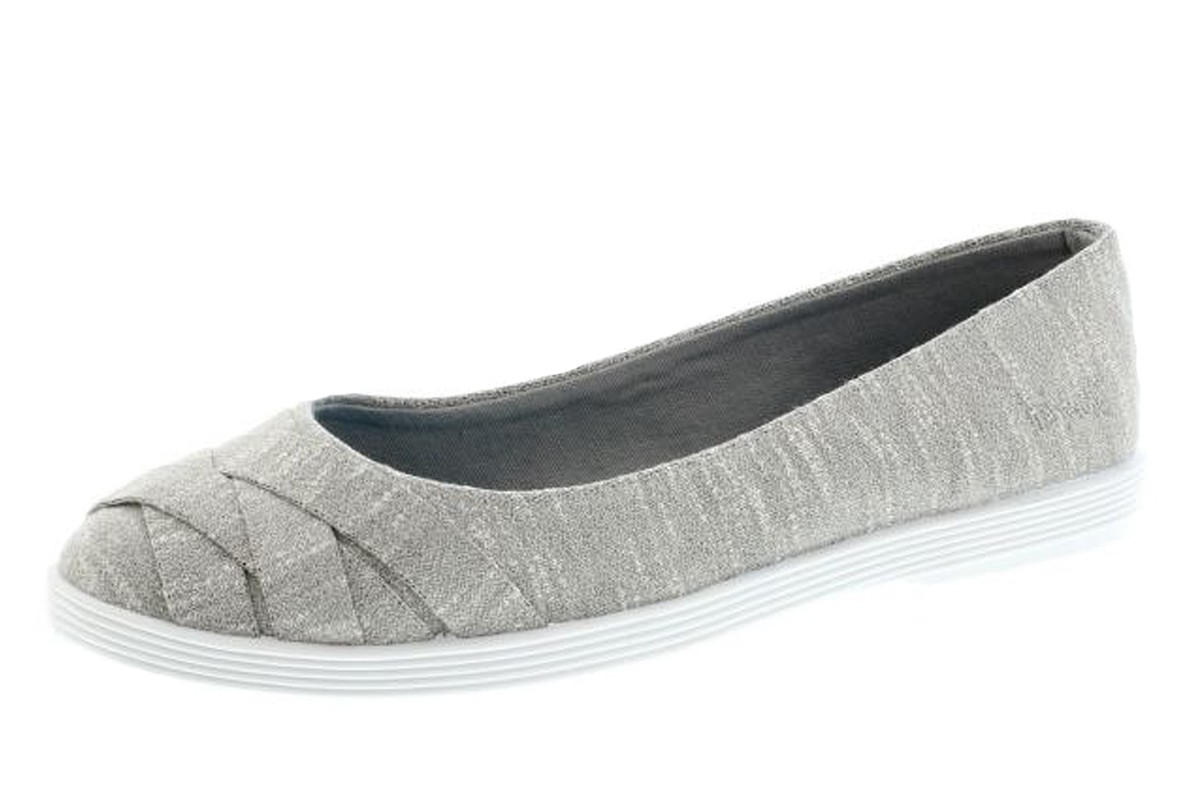 Blowfish Glo 2 Heather Grey New Jersey Flat Ballet Shoes