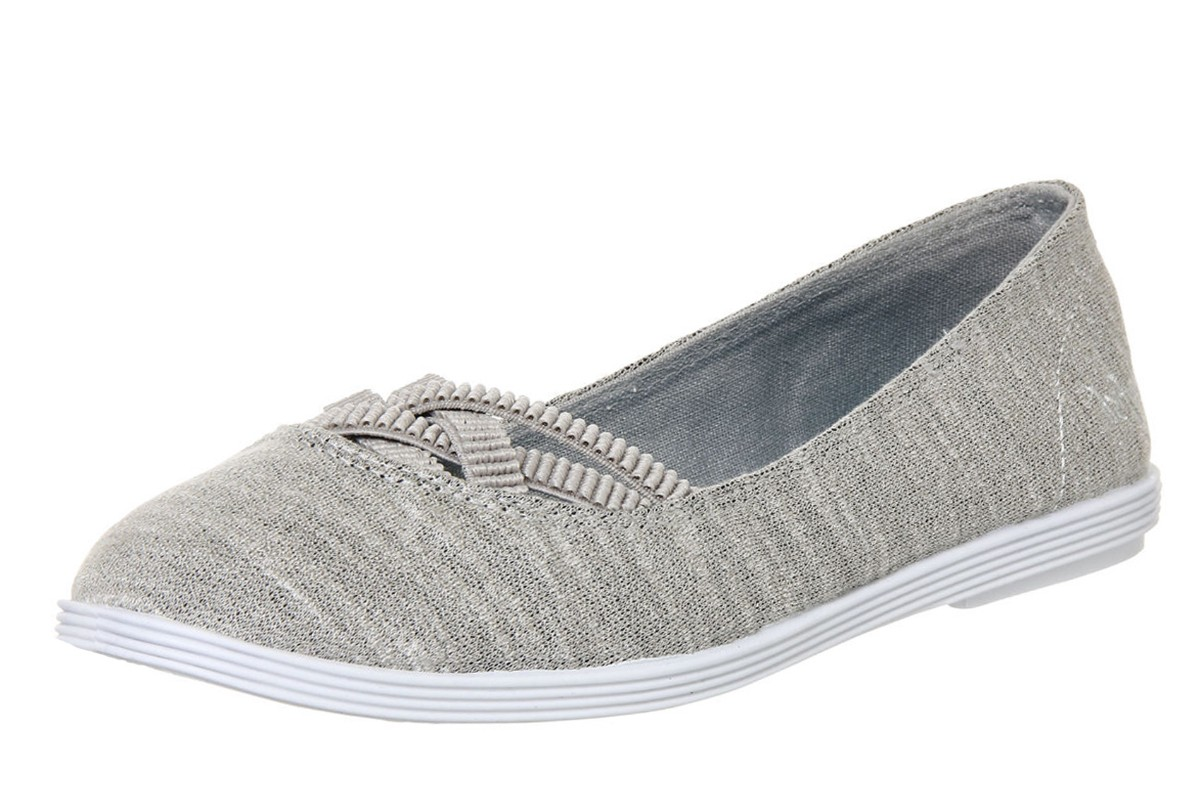 d302dd33cbf Blowfish Grover Heather Grey New Jersey Flat Ballet Shoes - KissShoe