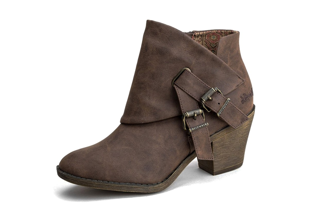 Blowfish Strum Coffee Texas Brown High Heel Ankle Boots