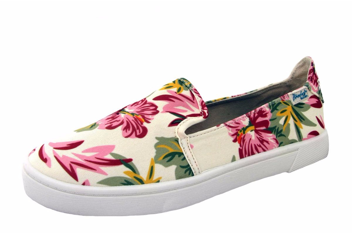 Blowfish Vasa Off White Floral Honolulu Print Slip On Shoes