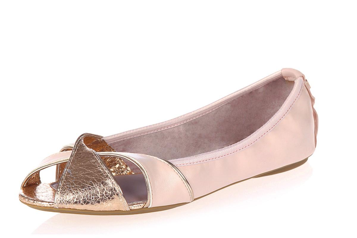 Butterfly Twists Amelia Soft Pink Rose Gold Open Toe Flat Memory Foam Shoes  - KissShoe cd86862d2