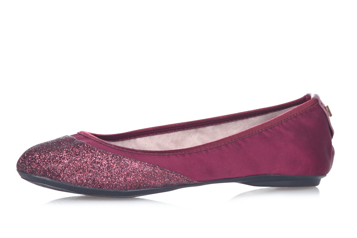 Butterfly Twists Ashley Merlot Burgundy Glitter Memory Foam Flat Ballet Shoes