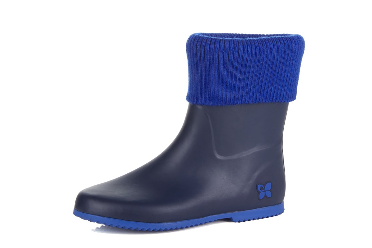 Butterfly Twists Eton Navy Cobalt Women's Short Wellies Wellington Boots