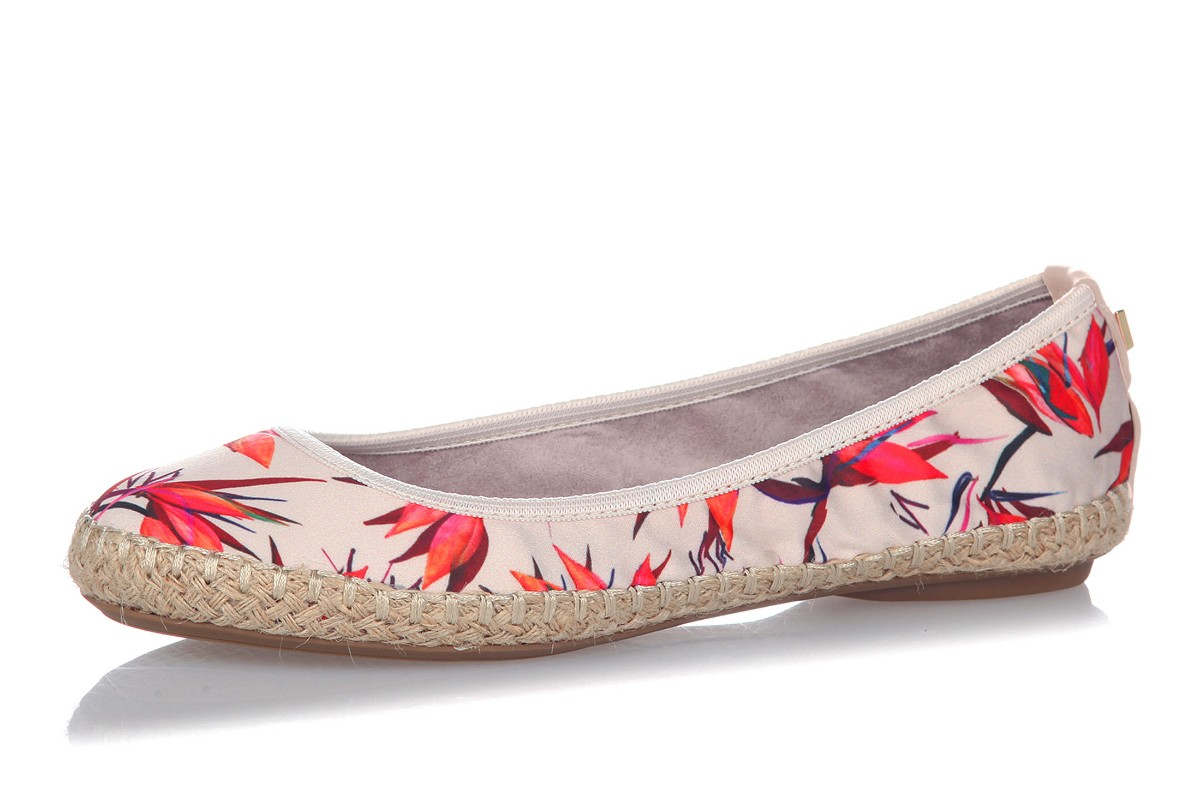 Butterfly Twists Gigi Cream Birds Of Paradise Floral Flat Espadrille Ballet Shoes
