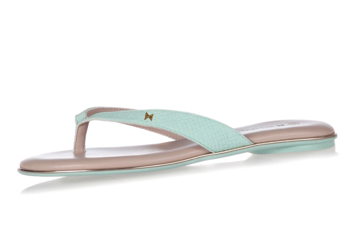 Butterfly Twists Lola Watercolour Mint Snake Memory Foam Flip Flops