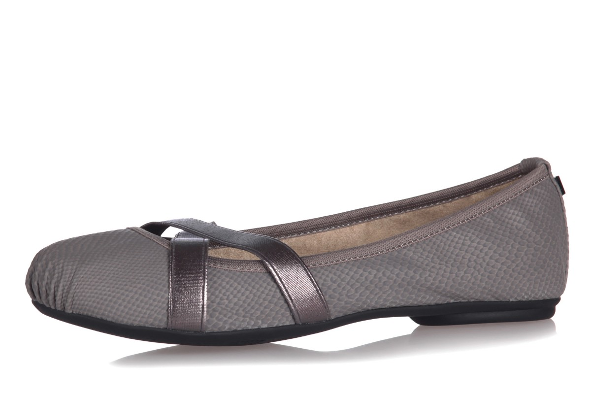 Butterfly Twists Mya Slate Grey Snake Memory Foam Flat Ballet Shoes