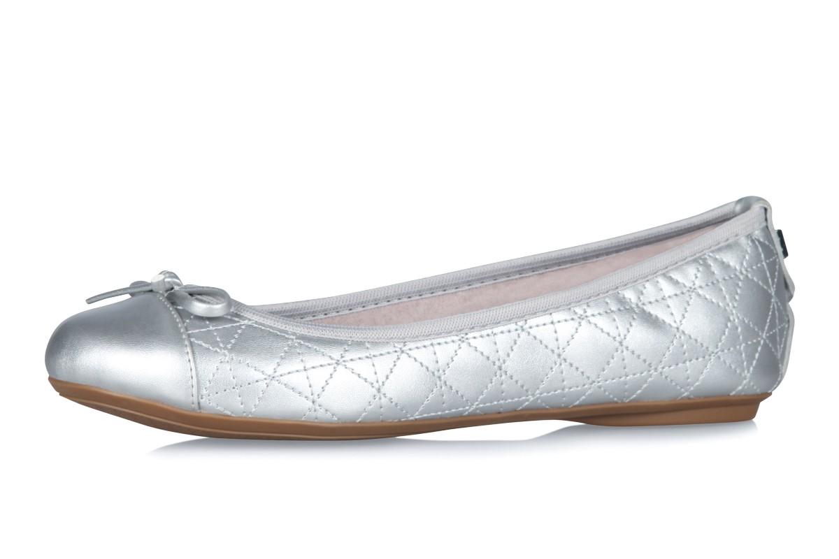 3ab8f862990 Butterfly Twists Olivia Matt Silver Metallic Memory Foam Flat Ballet Shoes  - KissShoe