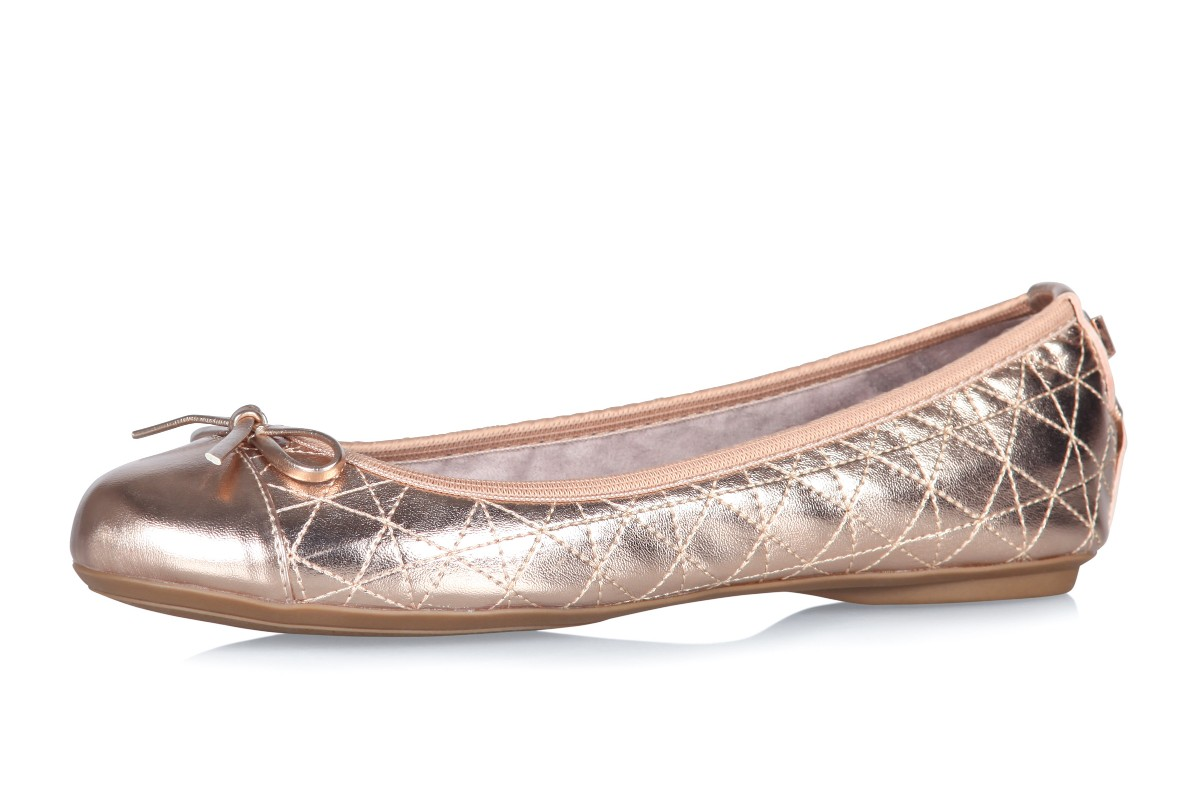Butterfly Twists Olivia Rose Gold Metallic Memory Foam Flat Ballet Shoes