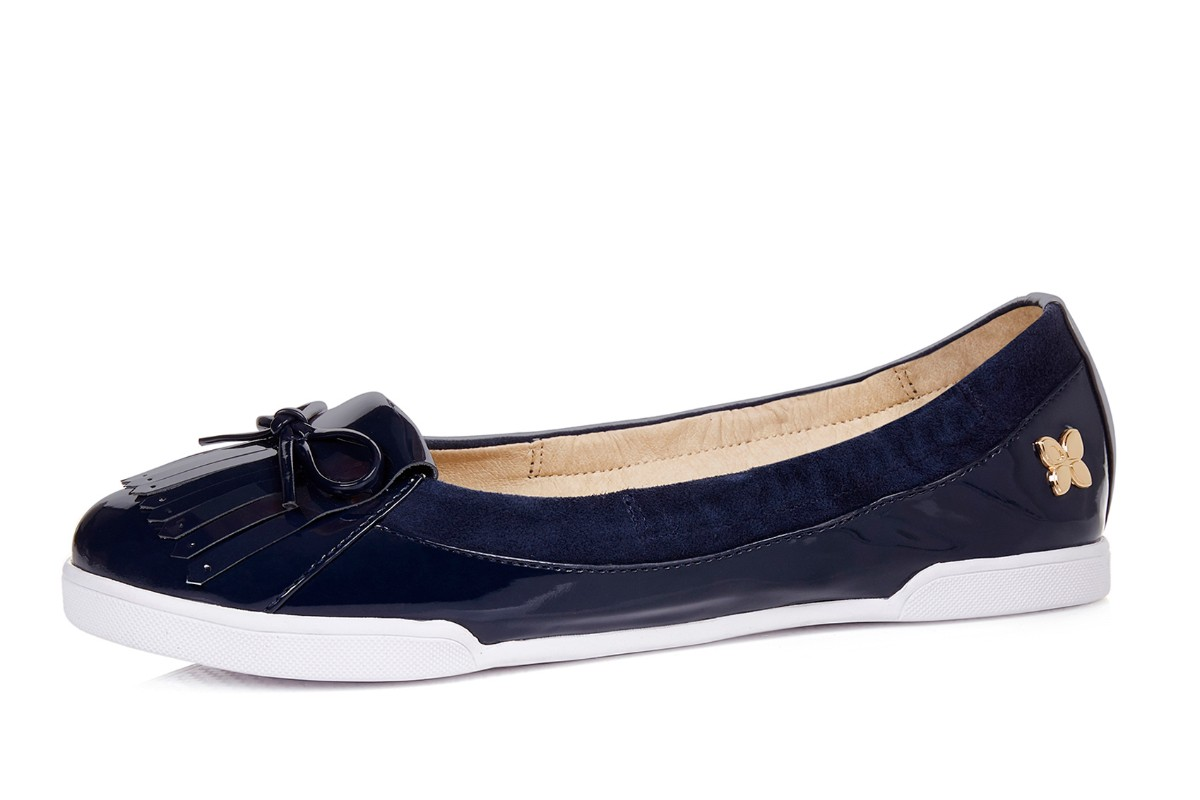 Butterfly Twists Robyn Midnight Navy Patent Women's Loafer Shoes