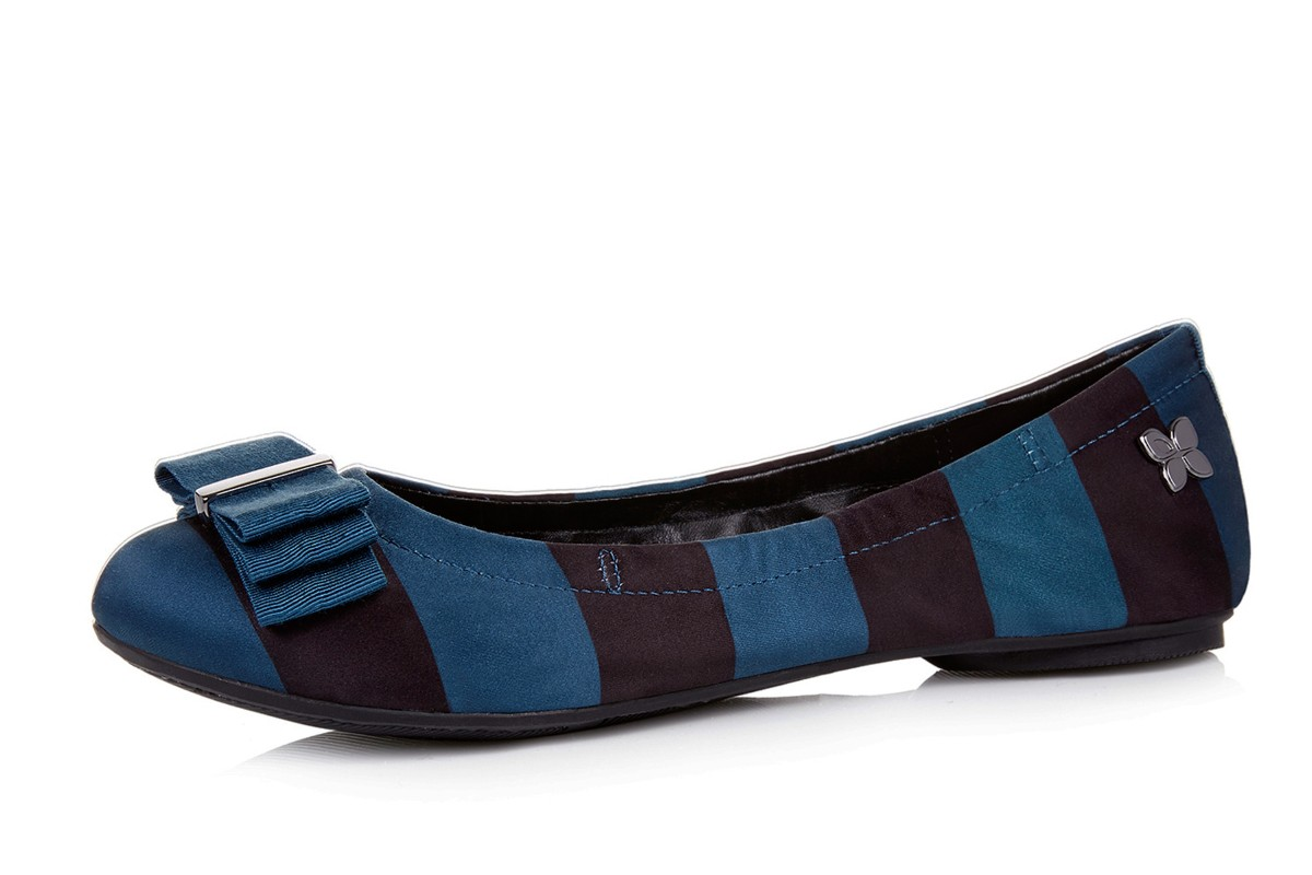 Butterfly Twists Sloan Black Peacock Stripe Ballet Shoes