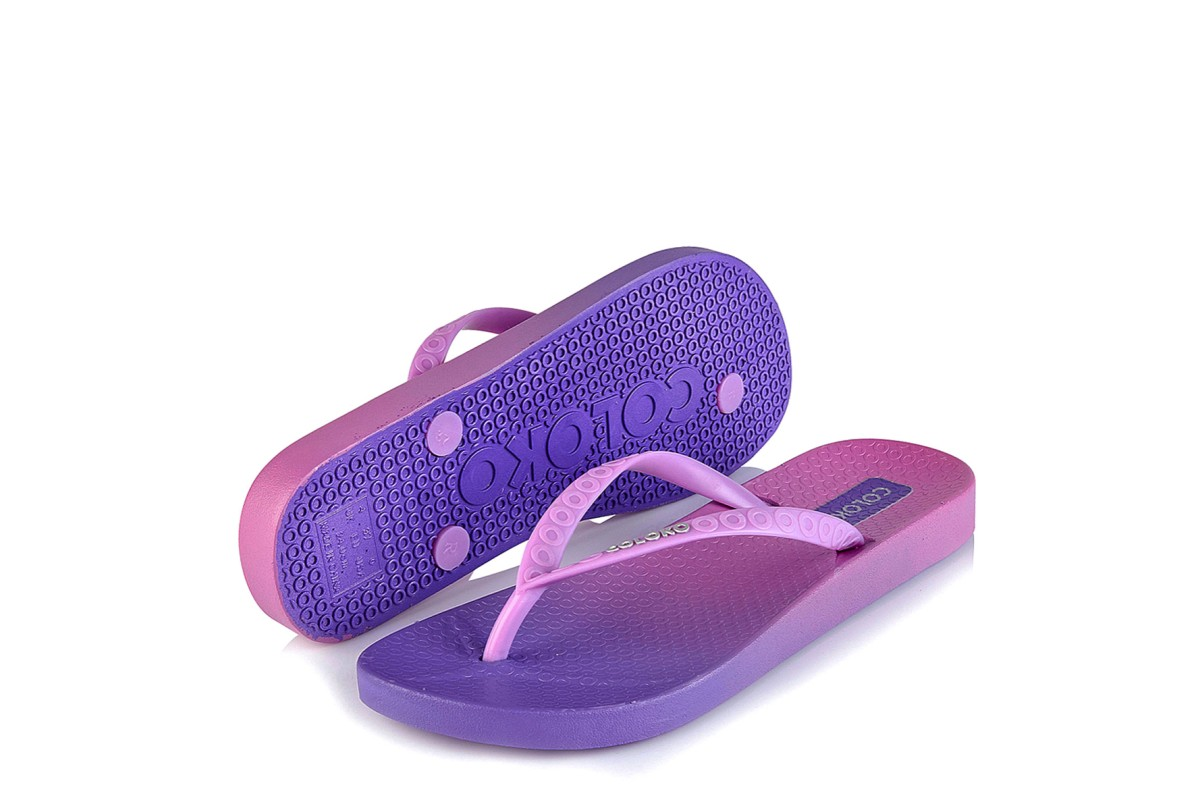 Coloko TI Purple Lilac Ombre Women's Flip Flops