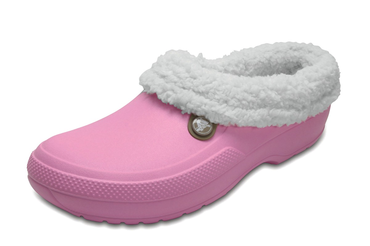 Crocs Classic Blitzen III Clog Carnation Pink Oatmeal Comfort Shoes Slippers