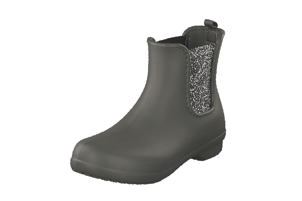 04577f099 Crocs Freesail Chelsea Flat Ankle Boots Slate Grey Dots - KissShoe