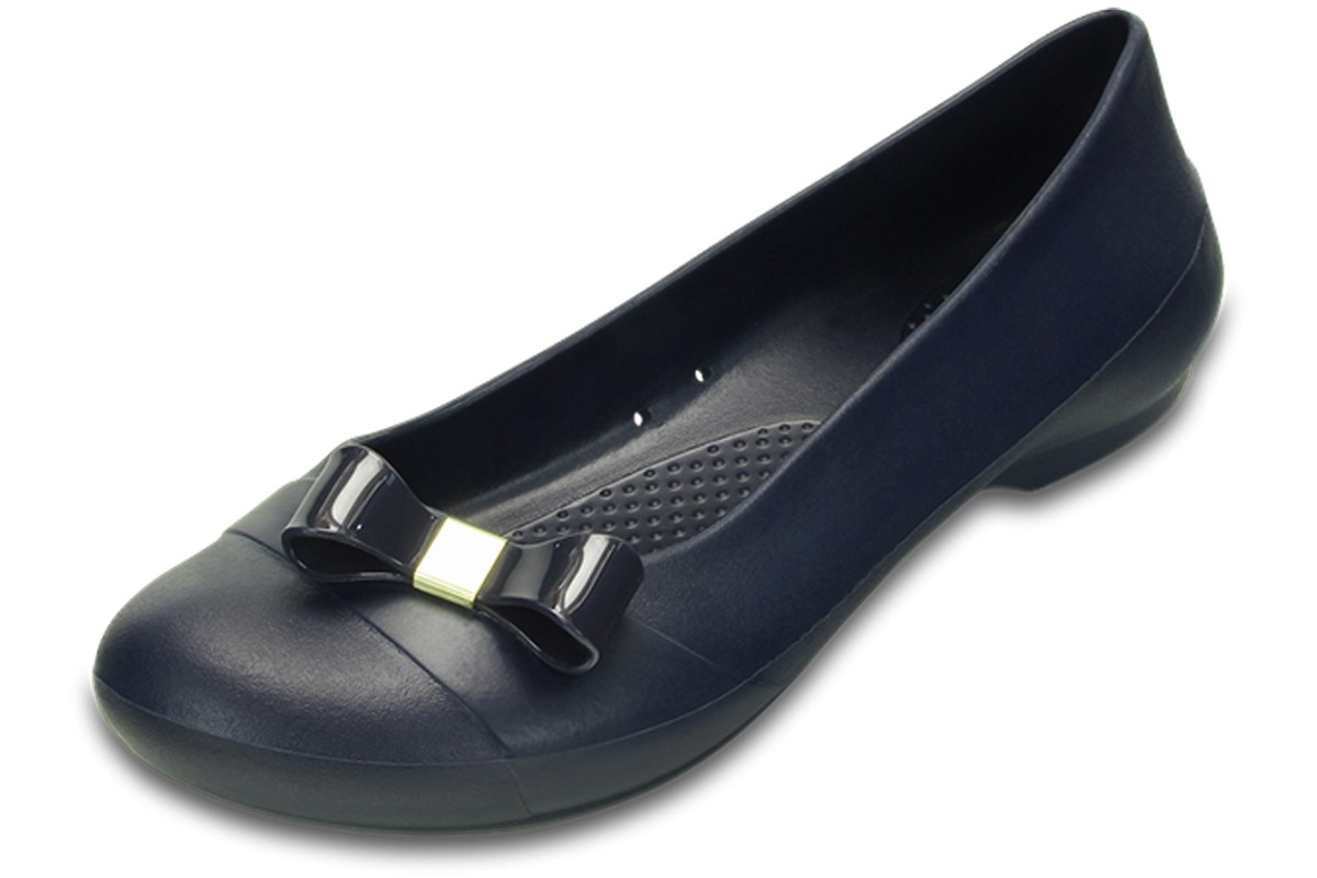Crocs Gianna Simple Bow Navy Women's Flat Ballet Shoes