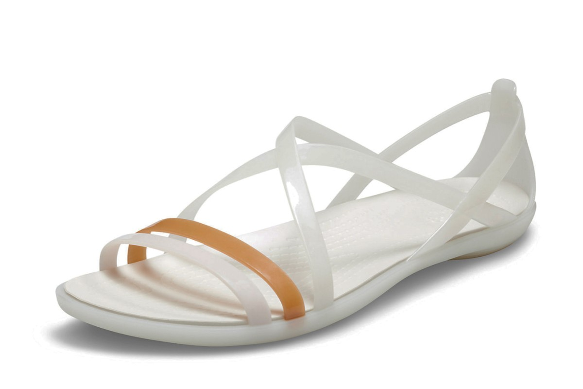 e5e7e587d Crocs Isabella Women's Strappy Comfort Sandals Oyster White - KissShoe