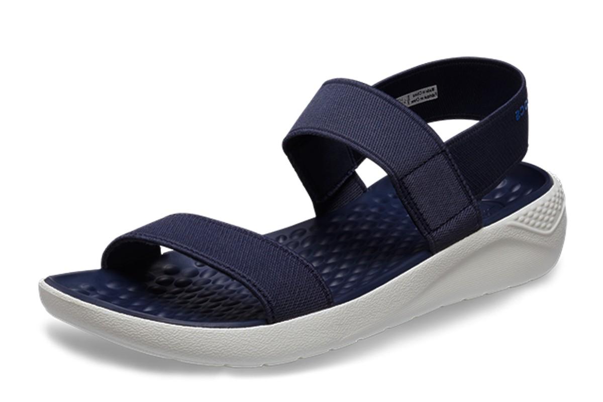 e8a9aa3a14a1 Crocs Literide Navy White Comfort Sandals Womens - KissShoe