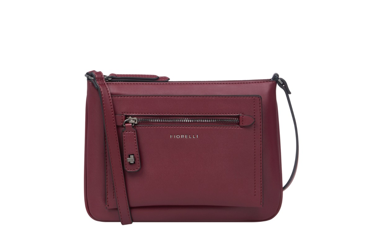 Fiorelli Alban Berry Burgundy Crossbody Shoulder Bag
