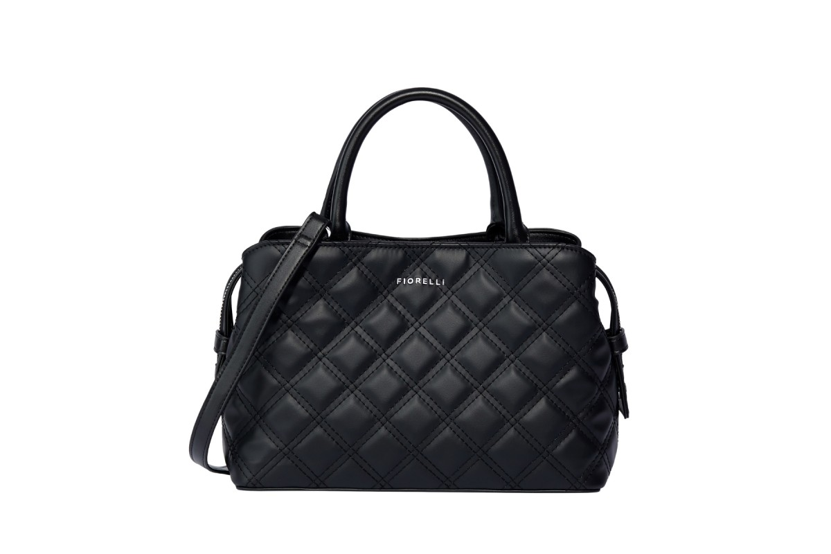 Fiorelli Bethnal Mini Black Quilt Top Handle Grab Bag