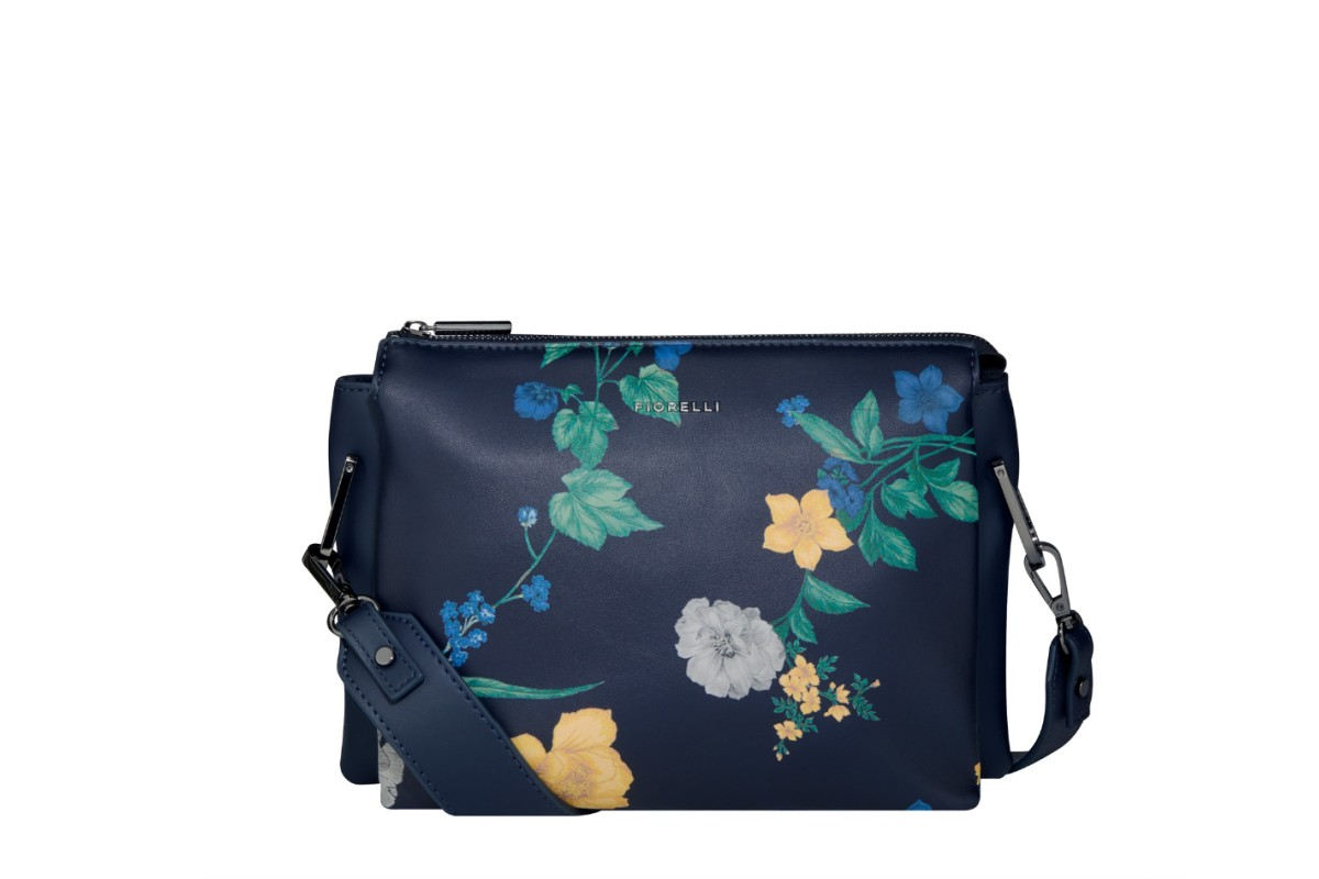Fiorelli Chester Navy Floral Print Crossbody Shoulder Bag