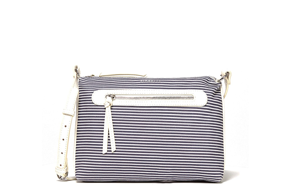 Fiorelli Paige East West Crossbody Navy Stripe Mix Shoulder Bag