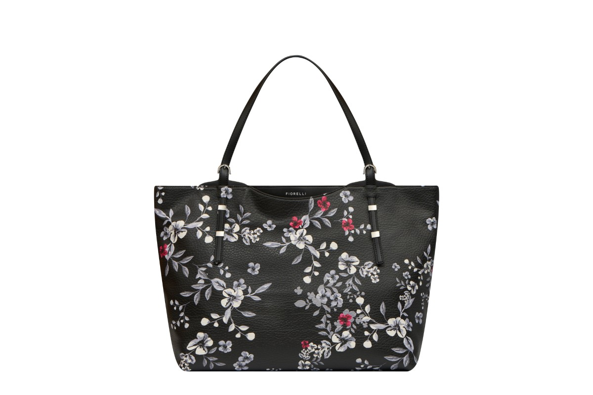 Fiorelli Soho Black Floral Print Tote Shoulder Bag Kissshoe
