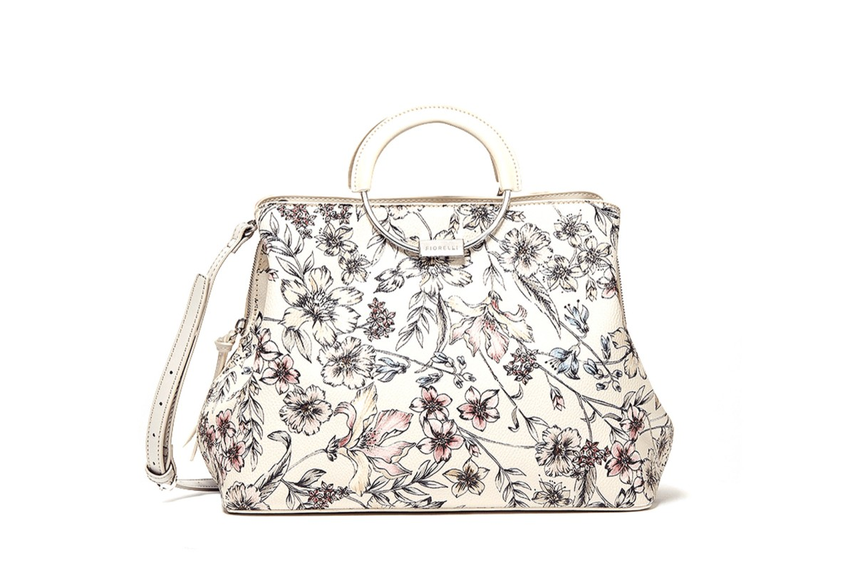 Fiorelli Stella Circle Handle Hampton Cream Floral Grab Bag