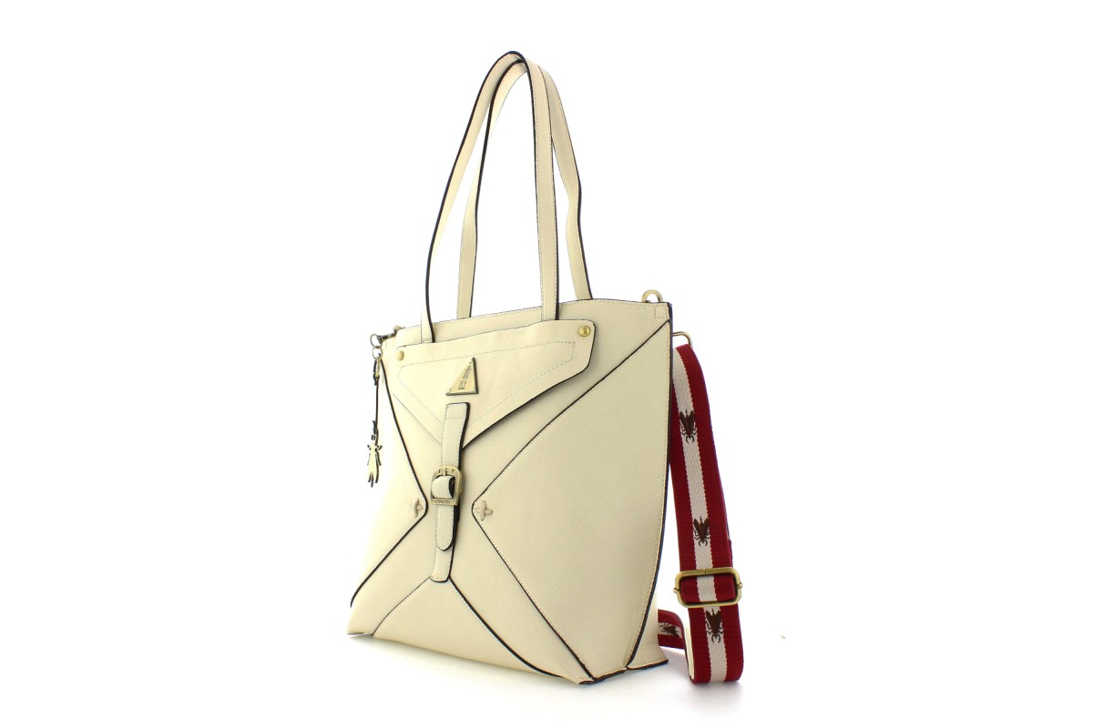 Fly London Bigg Off White Cream Tote Shoulder Bag