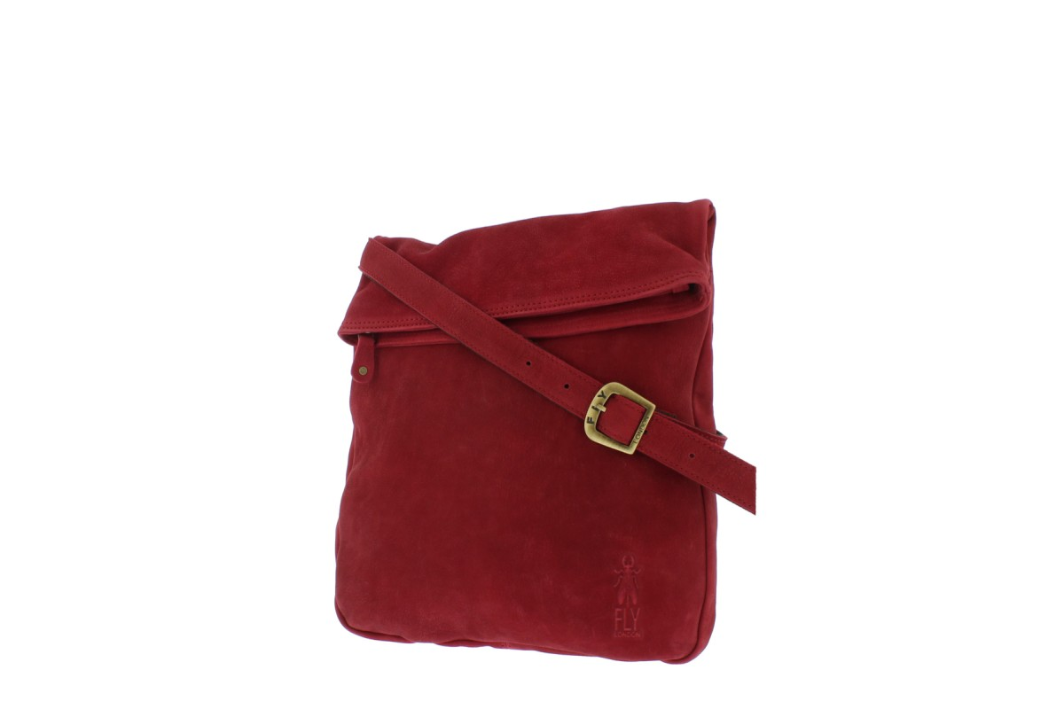 Fly London Capy Lipstick Red Genuine Leather Cross Body Shoulder Bag