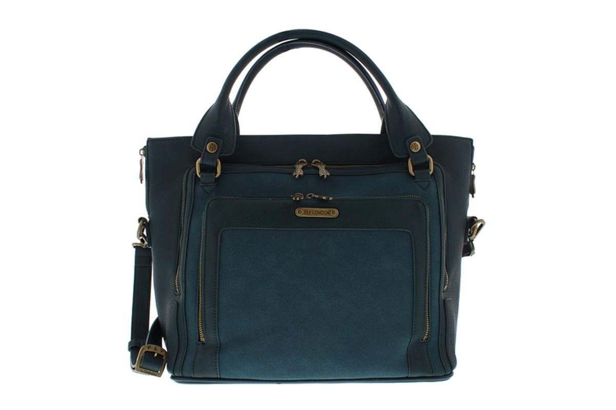 Fly London Jace Dark Green Tote Shoulder Bag
