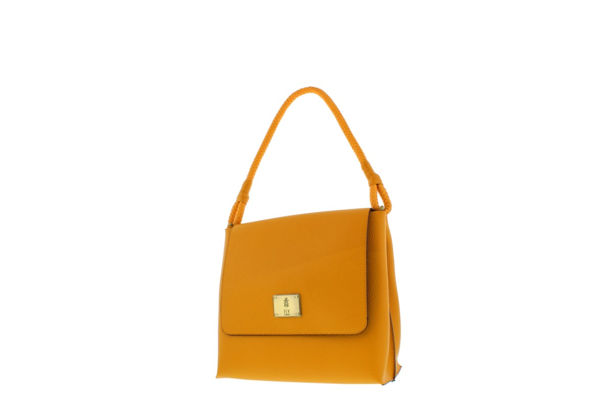 Fly London Leni Honey Mustard Faux Leather Shoulder Bag