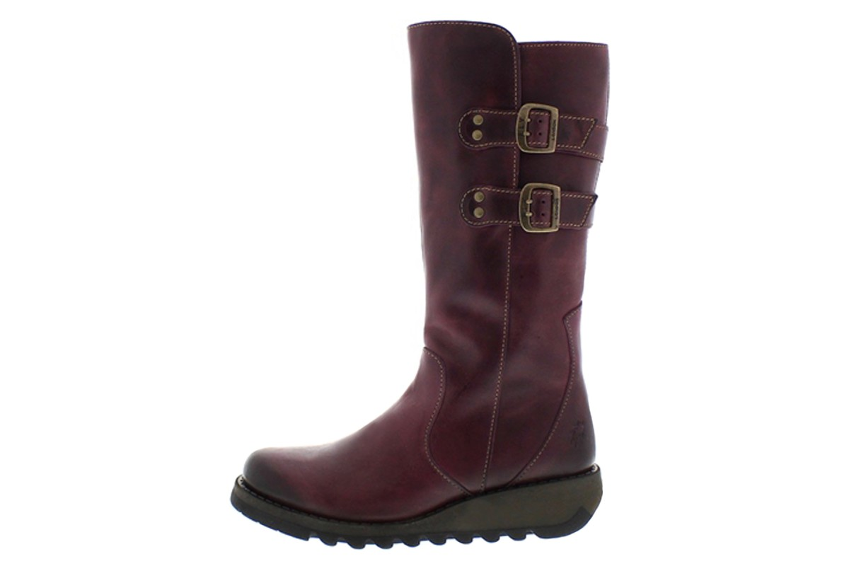 fly suli rug purple leather women s wedge boots