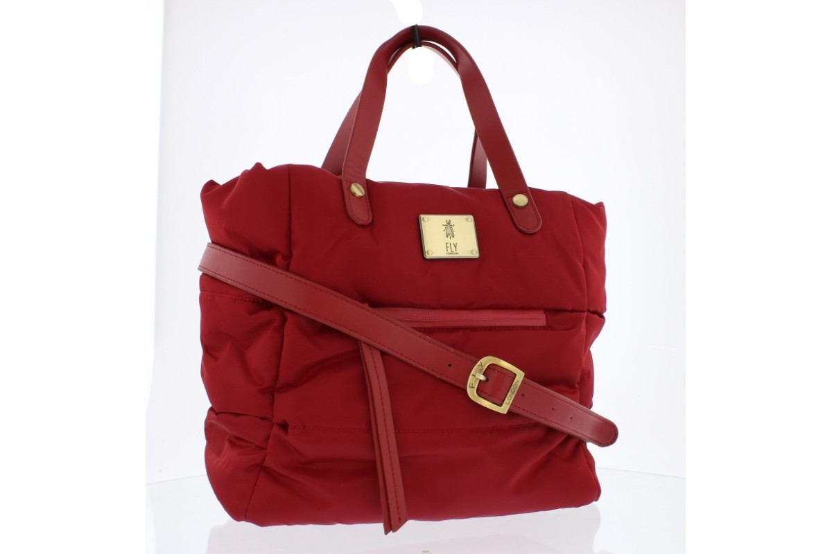 Fly London Zeni Red Nylon Quilted Handbag Shoulder Bag