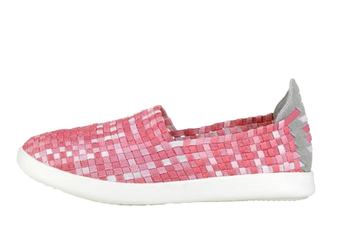 Hey Dude E-Last Simple Pink Fade Women's Woven Flat Comfort Shoes