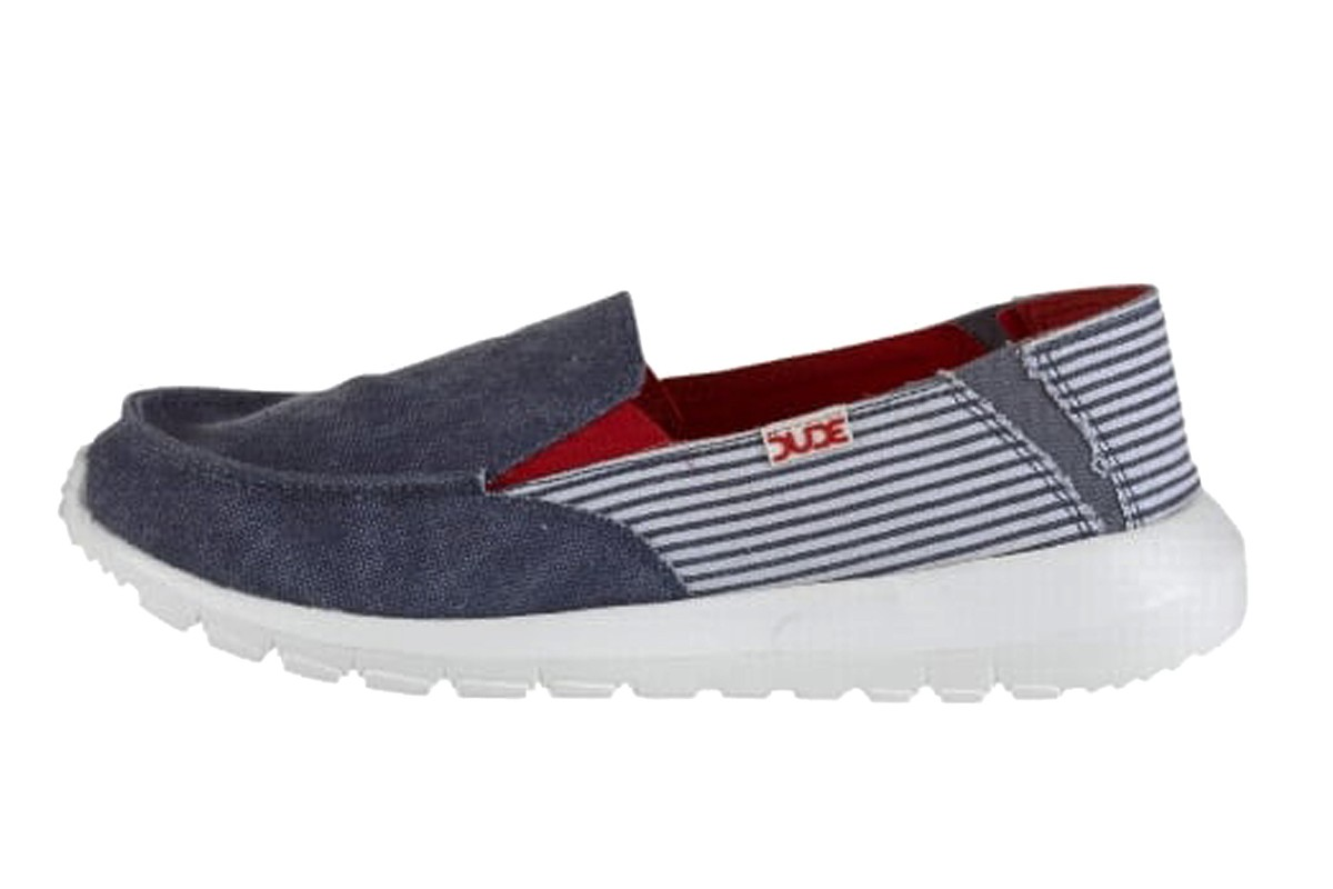 Hey Dude Ava Marine Stripe Navy Women's Slip On Shoes
