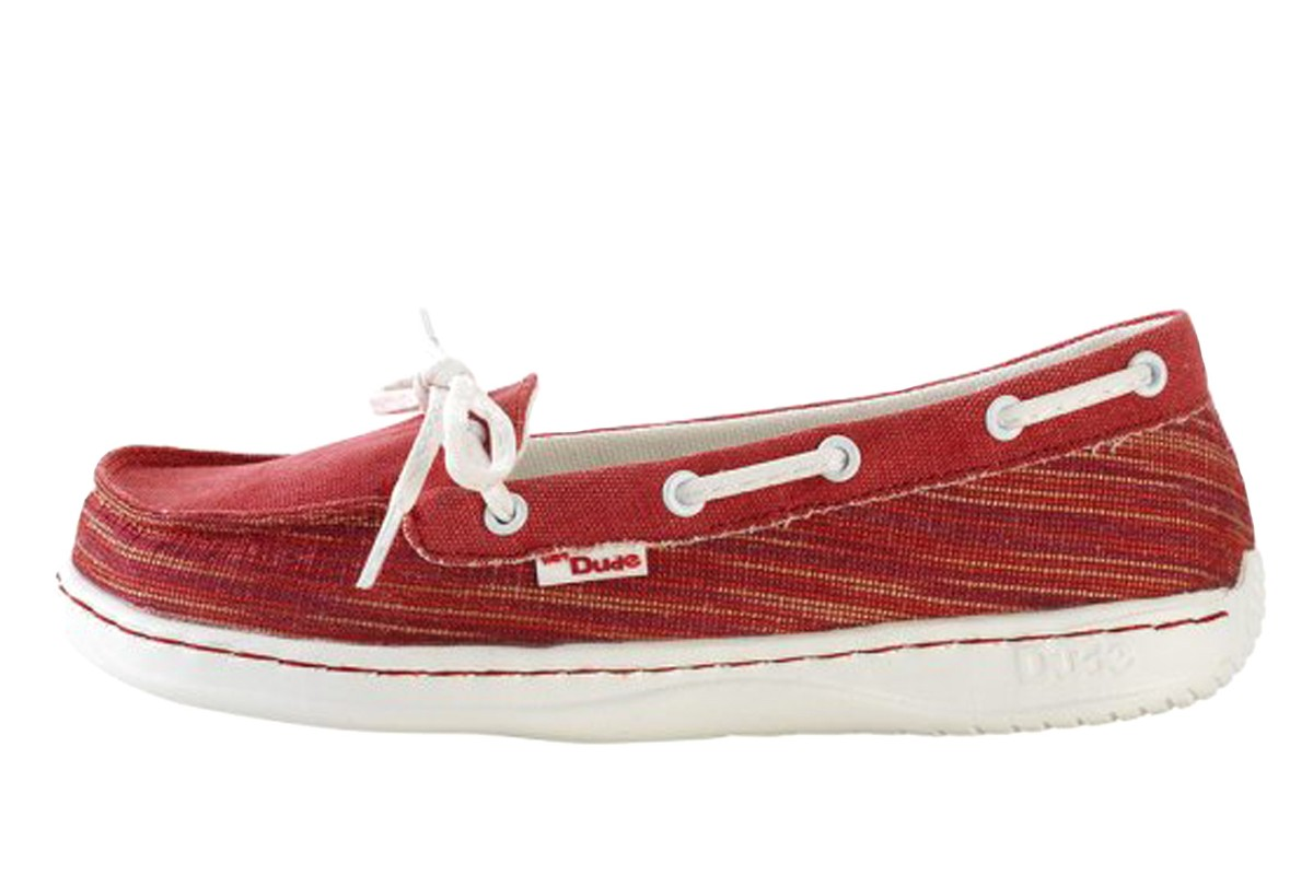 Hey Dude Moka Woven Rosso Red Women's Deck Shoes