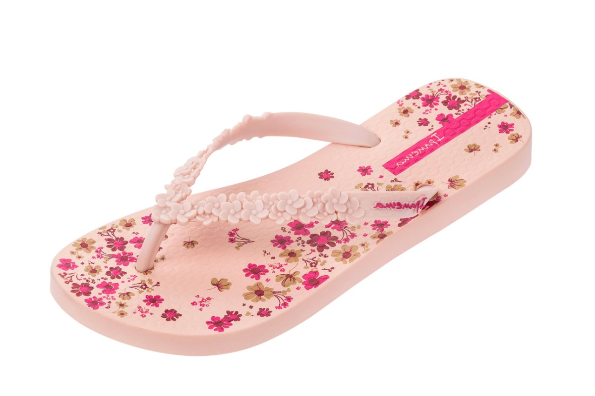 2376adbcf7ece Ipanema Fashion Floral Print Blush Flip Flops - KissShoe